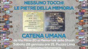 Pietre della memoria a Milano - Catena Umana